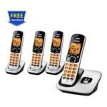 Uniden D1760-4 DECT 6.0 Cordless Phone w/ 3 Extra Handsets