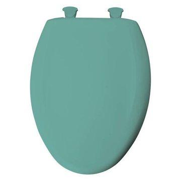 Bemis 1200SLOWT 105 Plastic Elongated Slow-Close Toilet Seat, Surf Green