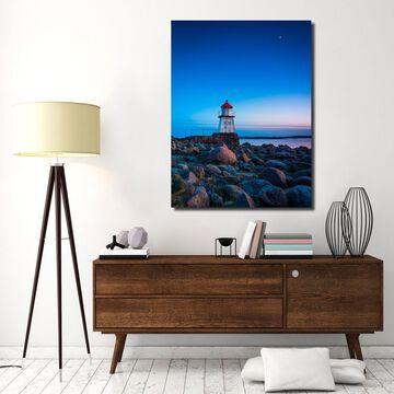 Ready2HangArt Indoor/Outdoor Wall Decor 'Lighthouse' in ArtPlexi - Blue