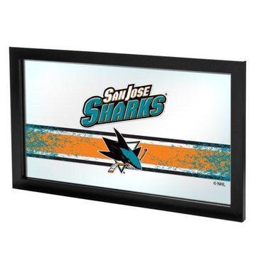 Trademark Gameroom NHL Framed Logo Mirror - San Jose Sharks