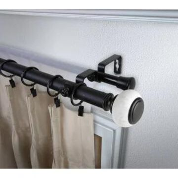 InStyleDesign Kennedy 1 inch Diameter Adjustable Double Curtain Rod