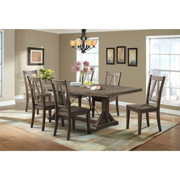 Picket House Furnishings Flynn 7PC Dining Set-Table & 6 Wooden Dining Chairs