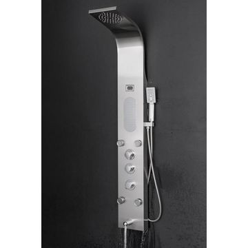 AKDY 59-in Stainless Steel 5-Spray Shower Panel System