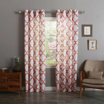 Aurora Home Morrocan 84-inch Semi-Sheer Curtain Panel Pair - 52