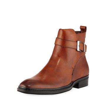 Men's Wrap-Strap Leather Boot