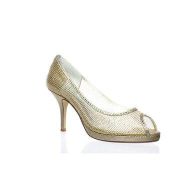 Caparros Womens Future Gold Peep Toe Heels Size 7.5