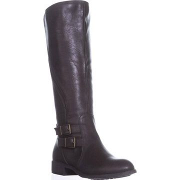 Style & Co. Womens Milah Almond Toe Knee High Riding Boots