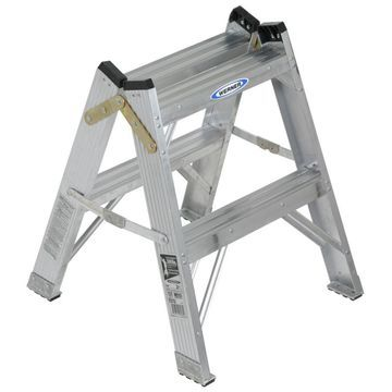 Werner T370 2-ft Aluminum Type 1 - 250 lbs. Capacity Twin Step Ladder
