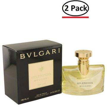 Bvlgari Splendida Iris D'or by Bvlgari Eau De Parfum Spray 3.4 oz for Women (Package of 2)