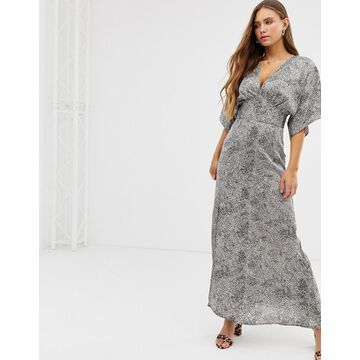 QED London kimono maxi dress