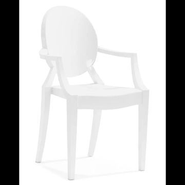 Zuo Modern Anime Dining Chair Anime Outdoor Dining Chair (Package of 4) White Outdoor Furniture Chairs Accent