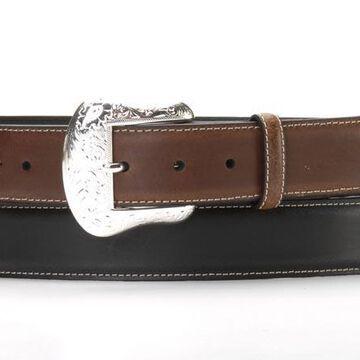 N2475401-40 Mens Top Hand Two Tone Belt, Black - Size 40