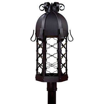 Montalbo Black 1 Lt Outdoor Post Mount By Minka Lavery