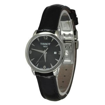 Tissot Women's T0572101605700 'T-Everytime' Black Leather Watch
