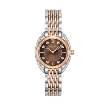 Bulova Women's Diamond Two-Tone Stainless Steel Watch