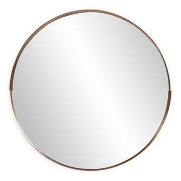 Howard Elliott Intrepid 20-Inch Round Mirror in Brass