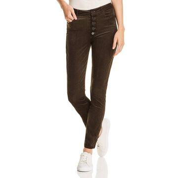 Paige Womens Corduroy Velvet Ankle Jeans
