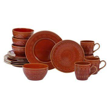 Certified International Aztec Rust 16pc Dinnerware Set