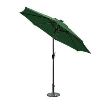 Jeco 9' LED Brown Aluminum Umbrella, Base Not Included (Green)