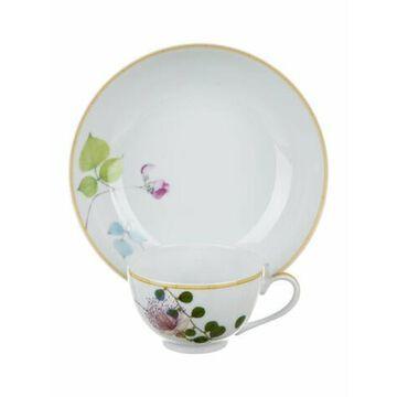 10-Piece Jardin Indien Tableware Set white