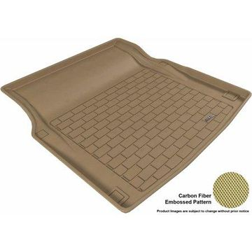3D MAXpider 2010-2016 MB E-Class (W212) Sedan All Weather Cargo Liner in Tan with Carbon Fiber Look