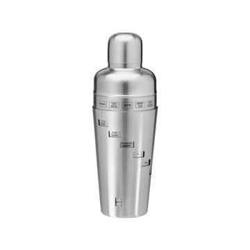 Kraftware Dial-A-Drink 32-oz. Stainless Steel Recipe Cocktail Shaker