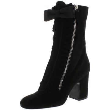 Laurence Dacade Womens Patty Mid-Calf Boots Suede Ruffled