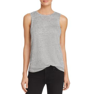 Paige Womens Linen Embellished Tank Top