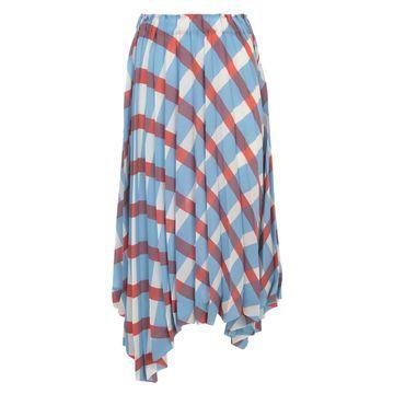 Issey Miyake Long Pleated Skirt A Line Elastic Waist