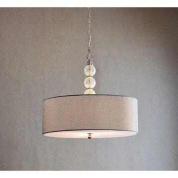 Mia 3-light Brushed Steel Pendant (Mia 3 Light Pendant)