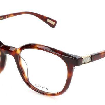 Lanvin VLN681S 04AP Womenas Glasses Tortoiseshell Size 50 - Free Lenses - HSA/FSA Insurance - Blue Light Block Available