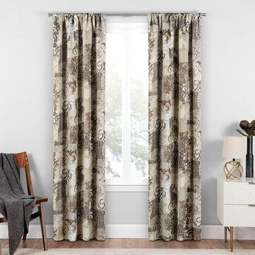 eclipse Chiswick Blackout Window Curtain, Natural, 37X95