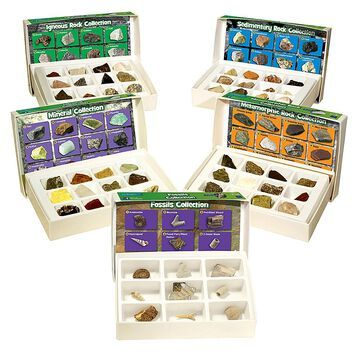 Educational Insights Rock Mineral Fossil Collection Multi