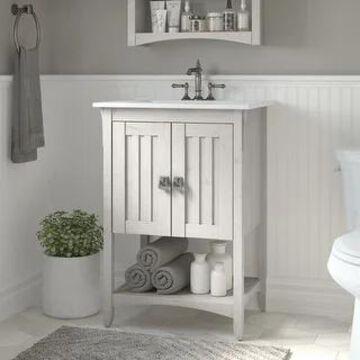 Salinas 24W Bathroom Vanity with Sink by Bush Furniture