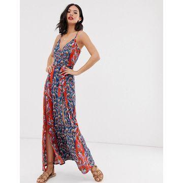 Parisian maxi dress in mix and match print