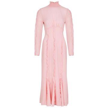 Beloved ruffle-trimmed chiffon midi dress