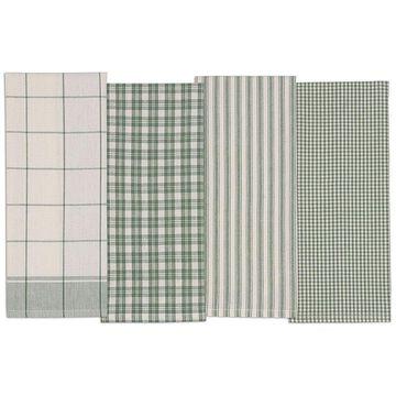 Design Imports Sage Set of 4 Kitchen Towels