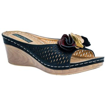 GC Shoes Women's Juliet Wedge Slide Sandal