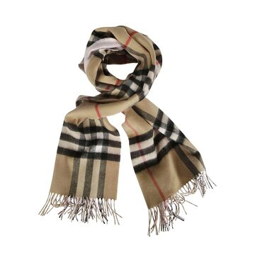Burberry Giant Check Double Faced Cashmere Scarf
