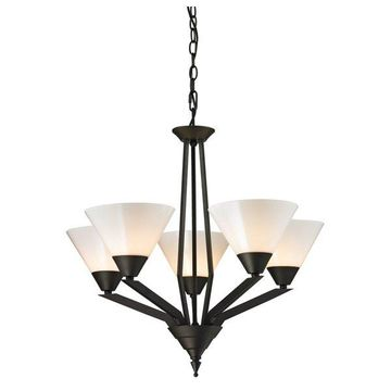 Cornerstone Tribecca 5 Light Chandelier, Oil Rubbed Bronze