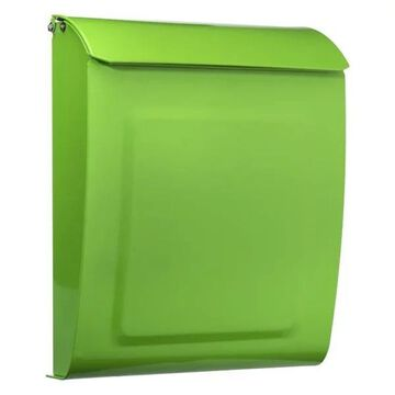 Architectural Mailboxes Aspen Graphite Mailbox, Lime Green