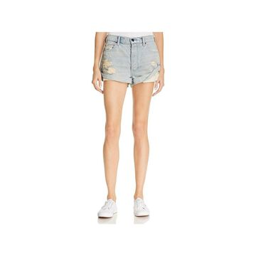 T by Alexander Wang Womens Hike Denim Shorts Low-Rise Rolled - 28