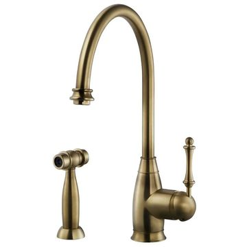 Houzer CHASS-682 Charlotte Traditional Kitchen Faucet with Sidespray and CeraDox Lifetime Technology