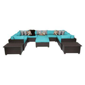 TK Classics Belle 12-Piece Outdoor Wicker Sofa Set, Aruba
