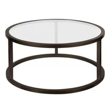 Filament Design Parker Round Coffee Table In Blackened Bronze