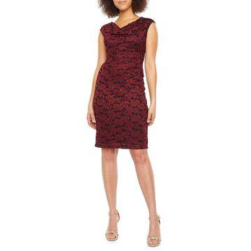 Scarlett Sleeveless Floral Lace Sheath Dress