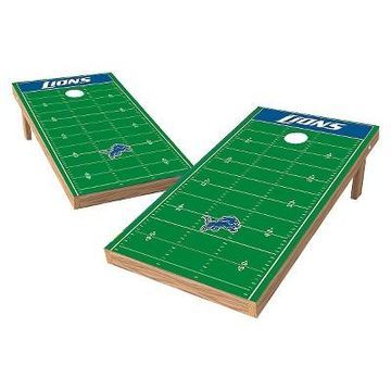 NFL Wild Sports XL Shield Football Field Cornhole Bag Toss Set - 2x4 ft.