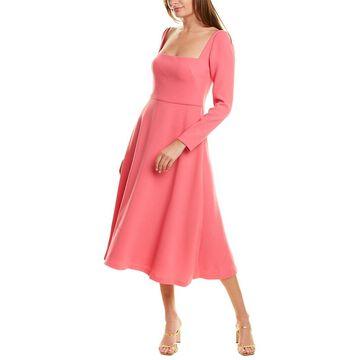Lela Rose Wool-Blend A-Line Dress