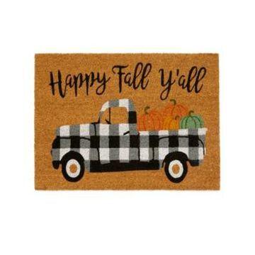 Elrene Happy Fall Y'all Coir Doormat