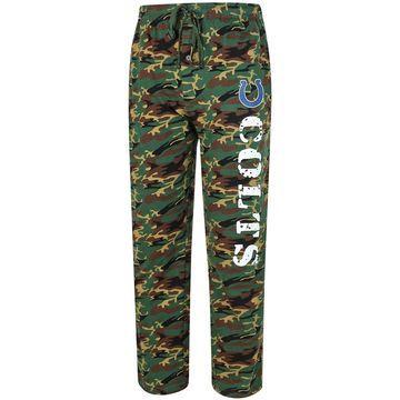 Indianapolis Colts Concepts Sport Knit Pants - Camo